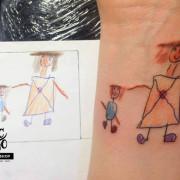 Gyerekrajz tetoválás