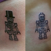 Lego Skeleton Tattoo