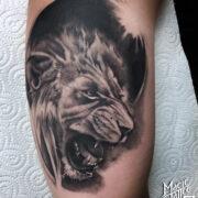 Oroszlán tetoválás
